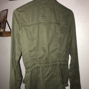 Hollister green army jacket